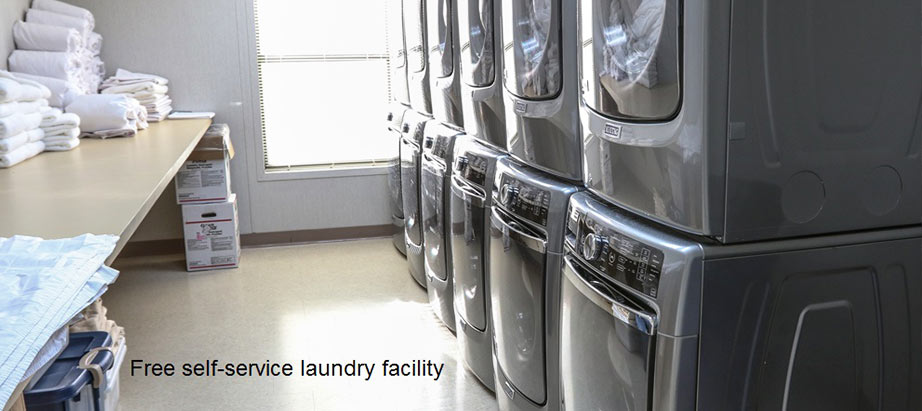 Cuero Oilfield Housing in Free self-service laundry facility