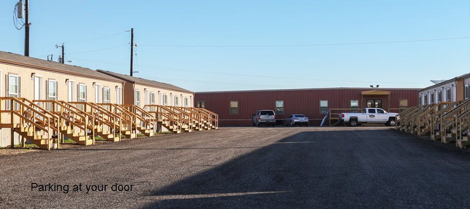 Cuero Oilfield Housing parking area